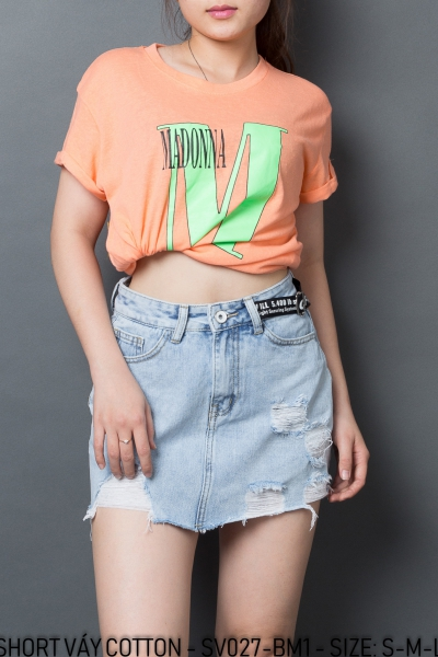 SHORT VÁY COTTON - SV027